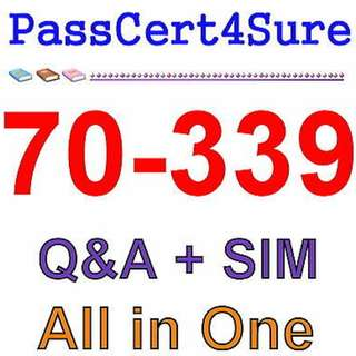 Best Exam Practice Material For 70-339 Exam Q&A+SIM