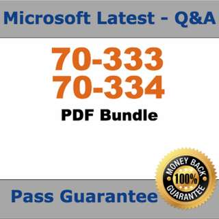 Microsoft Test 70-333, 70-334 Practice Exam Bundle Verified (Q&A,PDF)