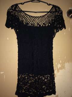 Laced blouse ( black )