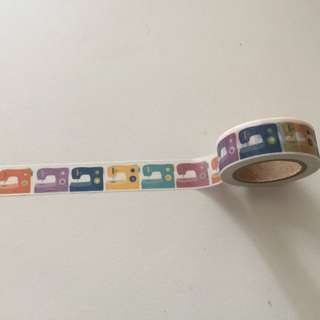 Colourful Sewing Machines GJ31 Washi Tape 15mm x 10m