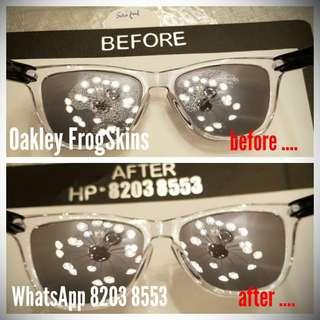 Oakley FrogSkins Holbrook PitBull HiJinx Jawbone Racing Half Jacket Radar EV Path Radarlock replacement lenses repair Service