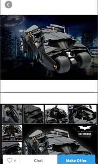 Hot Toys Tumbler Bat mobile (boxes only)