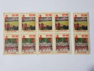 Rare sata 1969 stamps x 10
