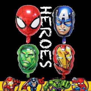 Superheroes Avengers Spiderman party supplies - party balloons / party deco