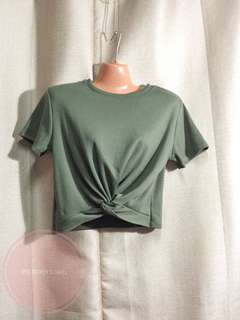 Moss Green Cropped Top