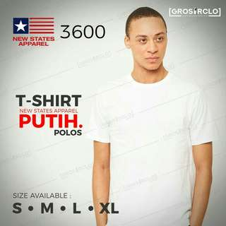 Kaos Polos Pria New States Apparel 3600 Oroginal