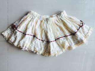 Authentic NA NA REVE DE LA Beige Lace Skirt Shorts #Cloths