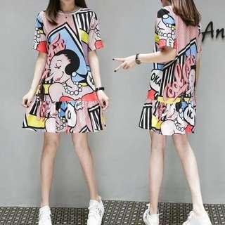 Olive Artsy Dress