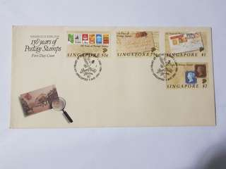 150 years of postage stamp 1st day cover 1990