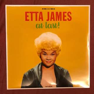 "NEW LP: Etta James ""At Last"" (180 Gram Yellow Vinyl, EU)"
