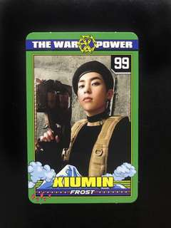 Xiumin's photocard from The Power Of Music Album 100% ORIGINAL Album bought from Korea