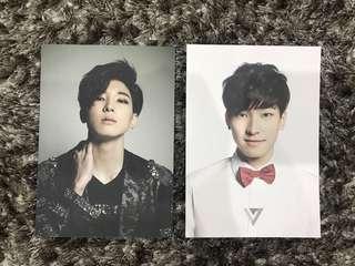 wonwoo 17 carat postcard