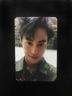 Suho photocard from Ex'Act Album 100% ORIGINAL Album bought from Korea