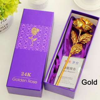 Free shipping 24k gold rose eternal foil flower with gift box