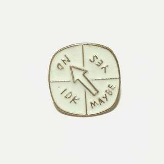 Decisions Board Enamel Pin Brooch Badge
