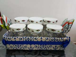 Handmade basket tray for cookie jar canister