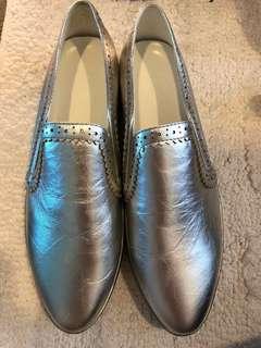 Pedder red silver slip on sneakers