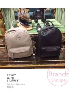 🎒SALE! 💯% Authentic Tory Burch Women Genuine Leather Backpack (Cream / Black) Pre-Order Now!!!