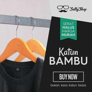 Kaos Polos Pria Katun Bambu (Cotton Bambu T-Shirt 679d6760f9