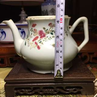 Old Hand Painted Tea Pot
