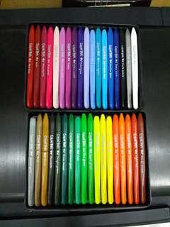 Coloring crayon plastic