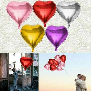 Free shipping love heart foil balloon party decoration