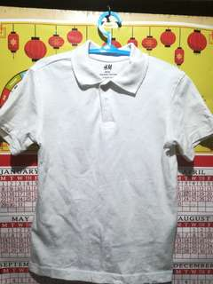 ORIGINAL H&M Plain white polo shirt
