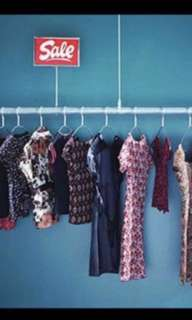 Big bag of preloved branded ladies clothes including dresses, tops, bottoms, shorts, pants, etc (more than 50pieces)
