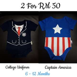 Baby Rompers x2 (6-12Months)