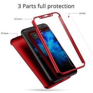Luxury 360 iPhone X 8/7/6/5 Plus case includes tempered glass