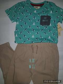 imported tshirt with garterized pants for kids