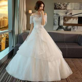 Pre order white  fishtail wedding bridal prom evening dress gown  RB0611