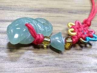 迷你 玉蛇 造型 生肖 吊飾 掛飾 4.8g
