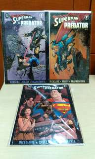 DC Dark Horse comics Superman vs Predator  three issues set.
