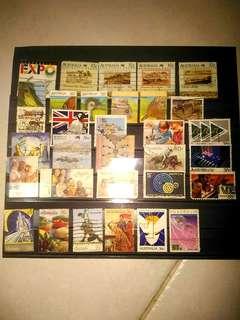包郵198x年 澳洲 郵票 已蓋銷 33個