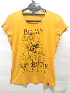 Edc mustard yellow t-shirt