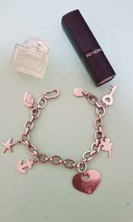 Fjord stainless steel bracelet with charms