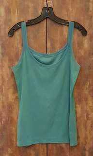 Authentic unworn GAP JAPAN lace-trimmed jade green top - US 6
