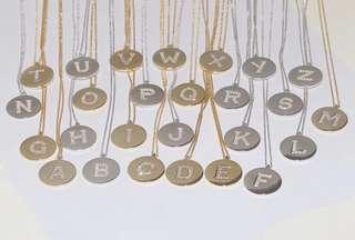 黃金/銀 字母情侶鏈鍊
