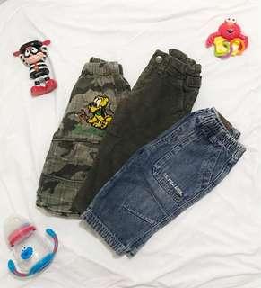 Bundle 3 Baby Boy Pants (12-18 mos)