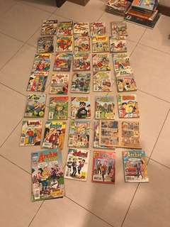 Archies comics in good condition