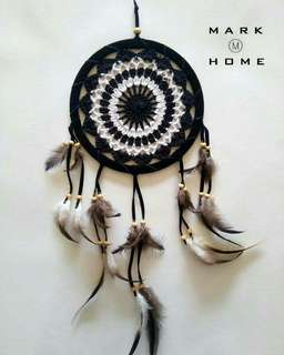 Handmade Tradition Indian Dream Catcher with Feather Wall/Car Hanging Decoration Ornament.