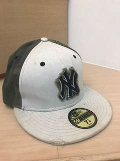 🚚 New Era 二手New York Yankee Camo Fitted 紐約洋基 全封帽