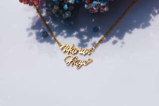 Customized Necklace in gold