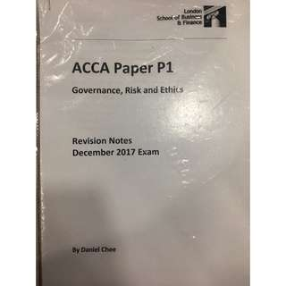 ACCA P1 Revision Notes (Soft Copy)