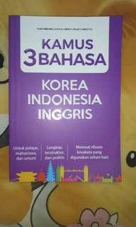 Kamus 3 bahasa ( inggris - indonesia - korea )