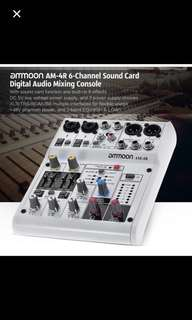 6 channel mixer with USB terminal