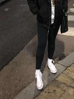 Black Cotton on leggings