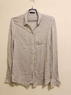 Massimo dutti women light grey shirt