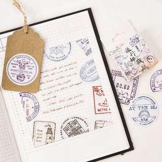 (Instock) Passport Stamp Stickers